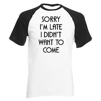 現実のグリッチ申し訳ありませんが、遅れて、私は'tは男子野球シャツを来たくありませんでした