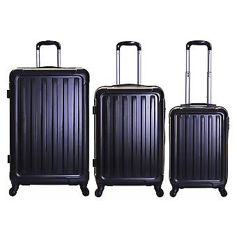 Slimbridge Lydd Set of 3 Hard Suitcases, Black