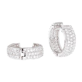 Sterling 925 Silver HOOP earrings - BLING II KING 14 mm