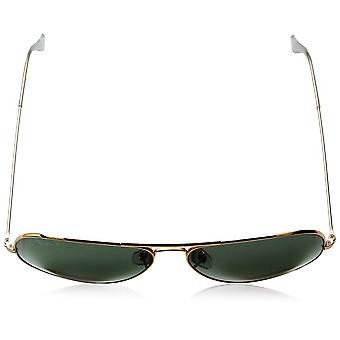 Ray-Ban RB3025 Aviator Polarized Sunglasses,, Gold/Polarized Green, Size 62 mm
