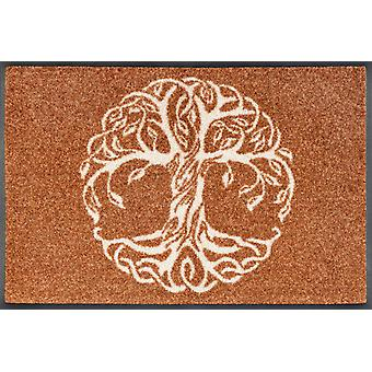 tvätt+torr dörrmatta Livets träd 40 x 60 cm liten smutsmatta