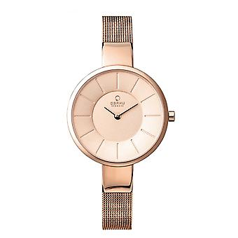 Obaku Sol Rose Women's Wristwatch V149LXVVMV