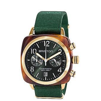 Briston 15140.PYA.T.10.NBG Clubmaster Classic Green Strap Wristwatch