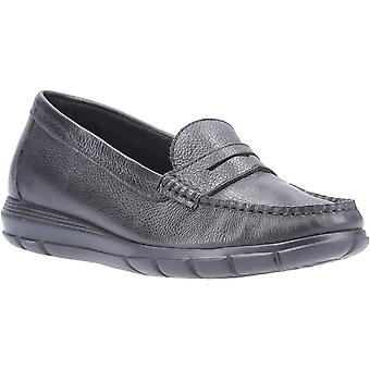 Hush Puppies Womens Paige Slip On Leather Loafer Shoes