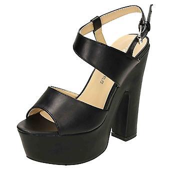 Koi Footwear Slingback Platform High Heel Chunky Shoes Sandals