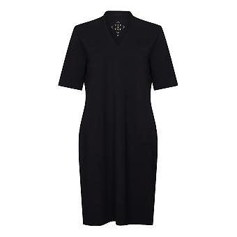 PENNY PLAIN Black High Back V-Neck Dress