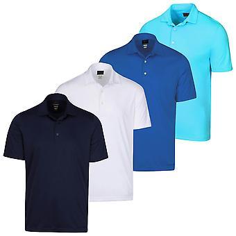 Greg Norman Mens Protek ML75 2Below Plain Golf Polo Shirt