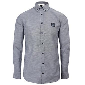 Hugo boss men's navy marl mabsoot shirt