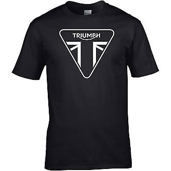 Triumph B&W Union Jack - Motorcycle Motorbike Biker - DTG Printed T-Shirt