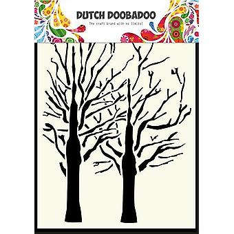 Niederländische Doobadoo niederländische Maske Kunst Schablone feine Bäume A6 470.154.003
