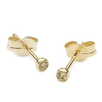 InCollections - Children's lobe earrings with cubic zirconia - yellow gold 8k (333) - code 0020160011401