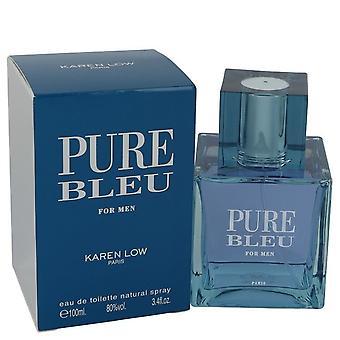 Pure Bleu by Karen Low Eau De Taoilette Spray 3.4 oz / 100 ml (Men)