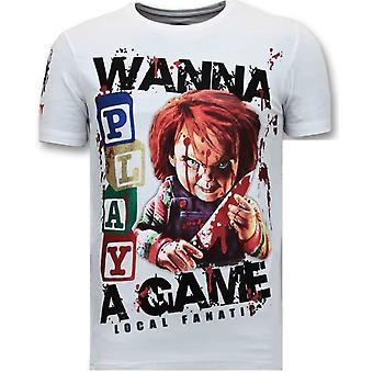 T-shirt - Chucky Childs Play - Vit