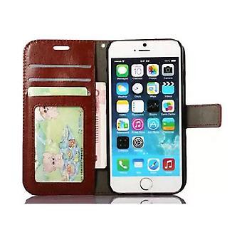 Stuff Certified® iPhone SE (2020) - Läder Plånbok Flip Case Cover Cas Case Plånbok Brown