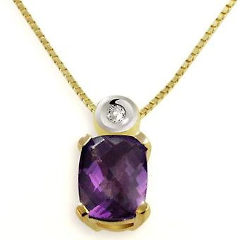 Goldmaid Necklace with Yellow Amethyst Yellow Gold Pendant 45cm