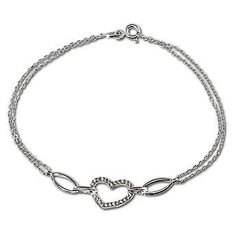 Silver women's bracelet Sterling 925 SilberDream zirconi 19 -0 cm white VSDA423W