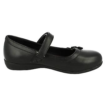 Cool For School Childrens Girls Bow Detail School Shoes