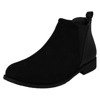 Spot On Womens/Ladies Low Heel Panel Ankle Boots