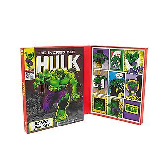Oficial Marvel Hulk Retro Pin insignia conjunto