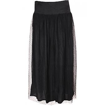 Masai Clothing Svea Black Mesh Skirt