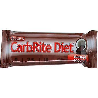 Universal Nutrition Doctor's CarbRite Diät Bars - 12 Bars - geröstete Kokosnuss