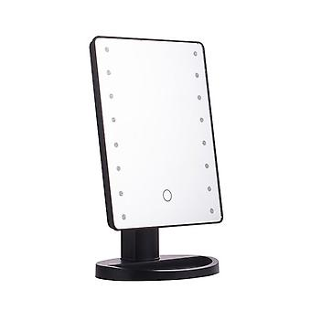 Desktop touch sensor makeup mirror LED luminous makeup mirror with USB interface