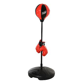 HOMCOM Boxing Punch Ball Set 360 Degree Rebound Spring For Teenager Adult Height Adjustable Ф38x78-120cm
