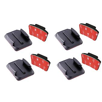 8x buet mount & lim 3M klebrig mount for go pro hd og helt 1 2 3 + 4