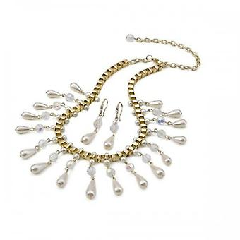 Intrige Frauens/Damen Chandelier Halskette und Ohrringe Set