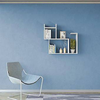 Mensola Romeo Color Bianco in Truciolare Melaminico 84x22x75 cm