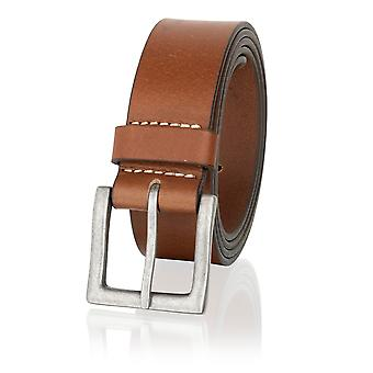 Tan 40mm casual Jean Belt cepillo metal hebilla