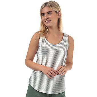 Frauen's Vero Moda Rebecca Streifen Jersey Weste in weiß