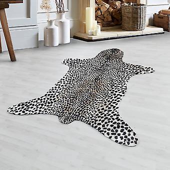 Leopard Faux Fur Faux cuero imitación lavable antideslizante beige crema