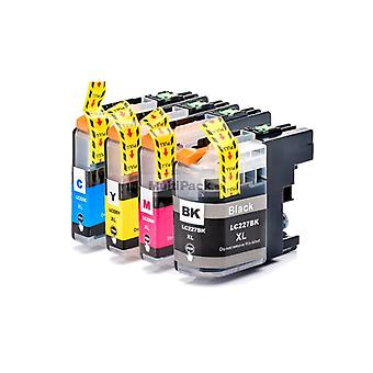 RudyTwos Replacement for Brother LC-227XL Set Ink Cartridge Black Cyan Magenta & Yellow Compatible with MFC-J5620DW, MFC-J5625DW, MFC-J5720DW, MFC-J680DW, MFC-J880DW