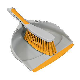 Charles Bentley 'Brights' Küche Bundle Set Mop Pinsel Peeling Squeegee Teller Dustpan gelb