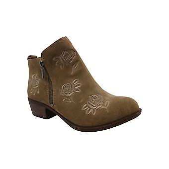 Lucky Brand Womens Basel Fabric Almond Toe Ankle Fashion Boots