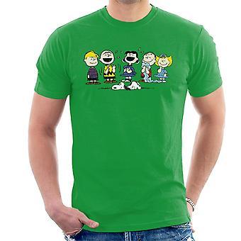T-shirt gruppo di arachidi risata maschile