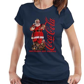 Coca Cola Holidays tulevat Santa laiha naisten ' s T-paita
