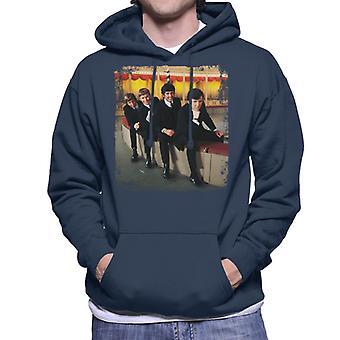 Telewizor razy sześćdziesiątych Pop grupy mężczyzn wyszukiwarki jest z kapturem Bluza