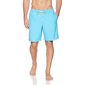 Essentials Men's Quick-Dry 9&Swim Trunk, Aqua, Large Essentials Muži'