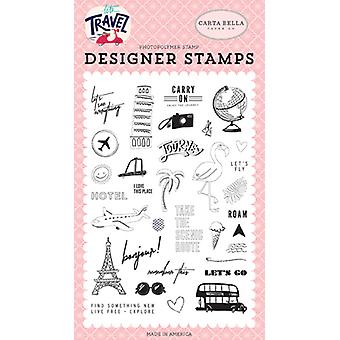 Carta Bella Let's Go Clear Stamps