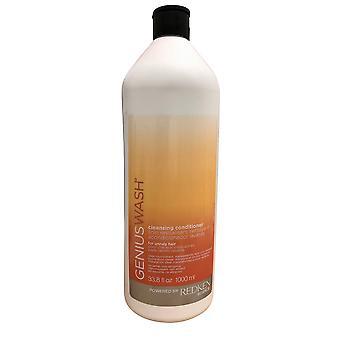 Redken Genius Wash Cleansing Conditioner Unruly Hair 33.8 OZ