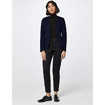 MERAKI Women's Collarless Stretch Jersey Comfort Blazer, laivasto, EU XS (US 0-2)