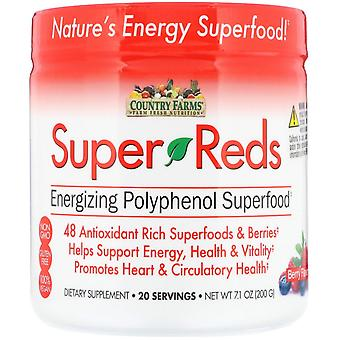 Country Farms, Super Reds, Energizing Polyphenol Superfood, Berry Flavor, 7.1 oz