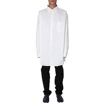 Maison Margiela S30dl0481s53212101 Heren's Wit Katoenen Shirt