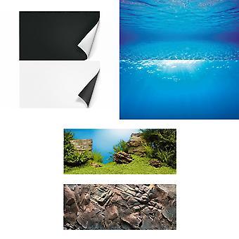 Juwel Aquarium dubbelzijdige poster achtergrond
