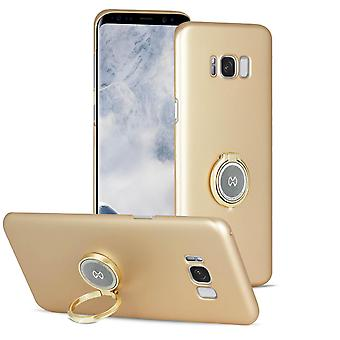 Narrow case with kickstand for Samsung Galaxy S8 Plus Hard-Plastic Glittering Gold