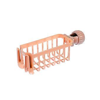 Kitchen Faucet Plastic Storage Rack Pink 23.5x7.5x7.5cm