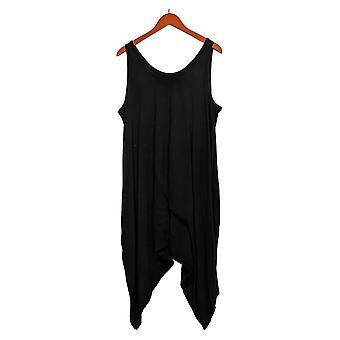 Anybody Women's Petite Romper Cozy Knit Black A307757