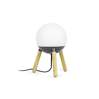 Faro Mine - 1 light table globe -lamppupuu, tummanharmaa, E27